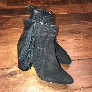 Women's size 6 Rebecca minkoff fringe ankle boots